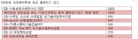 """KB증권 """"단기간에 성장펀드 1兆 이룰 것"""""""